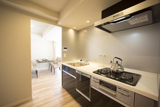 食器洗乾燥機付の便利なキッチン