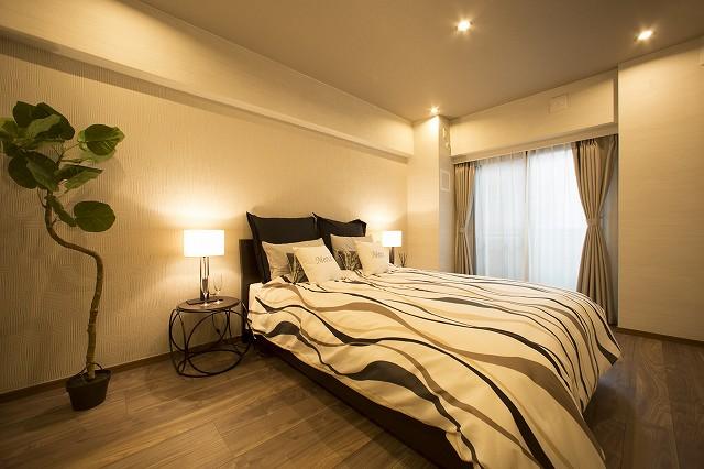 ウォークインクローゼット付、快適な寝室