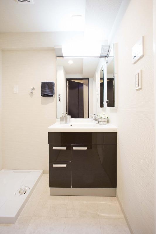 収納力と機能性に優れたお手入れラクラク洗面化粧台